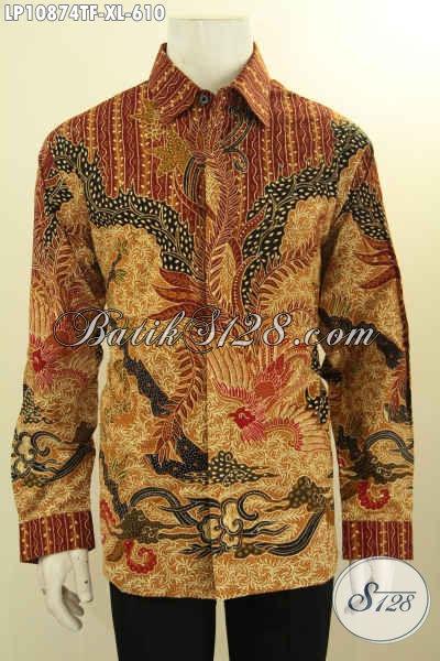 Batik Hem Solo Mewah Terbaru, Kemeja Batik Mewah Halus Lengan Panjang Full Furing Motif Bagus Tulis Asli, Bisa Buat Ngantor Dan Kondangan, Size XL