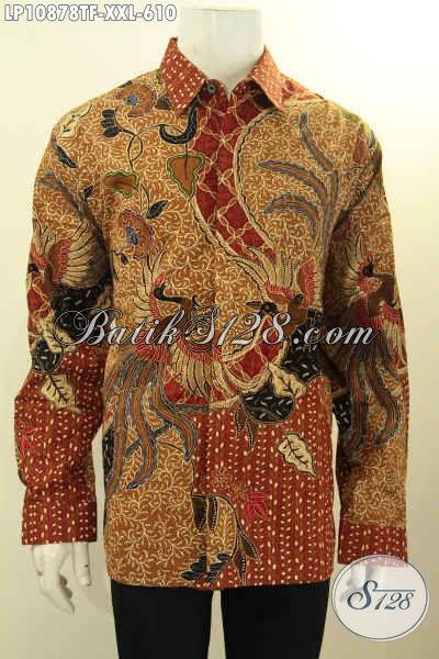 Batik Hem Solo Premium Terbaru, Model Busana Batik Mewah Jawa Tengah Halus Size XXL Lengan Panjang Full Fuirng, Baju Batik Lelaki Gemuk Untuk Kerja Dan Acara Formal