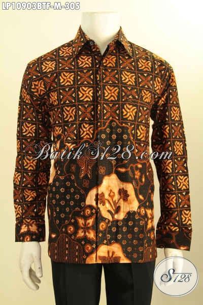 Hem Batik Solo Lengan Panjang Halus Daleman Full Furing, Busana Batik Istimewa Tren Masa Kini Untuk Acara Formal Hanya 300 Ribuan, Size M