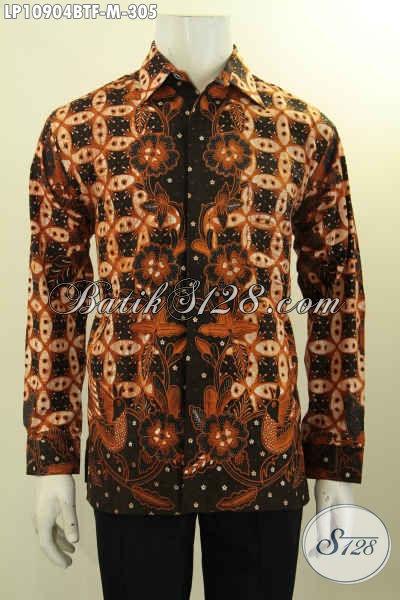 Baju Batik Pria Formal Lengan Panjang , Pakaian Batik Elegan Nan Istimewa Motif Klasik Daleman Full Furing, Pas Untuk Kerja Dan Rapat, Size M