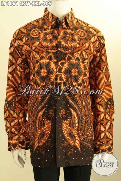 Baju Batik Hem Jumbo Lengan Panjang Full Furing, Busana Batik Istimewa Full Furing Spesial Untuk Pria Gemuk Tampil Gagah Menawan Hanya 305K, Size XXL