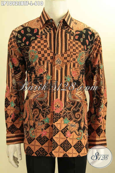 Batik Kemeja Mewah Lengan Panjang, Hem Batik Full Furing Premium Motif Bagus Proses Tulis, Penampilan Berkelas Bak Pejabat