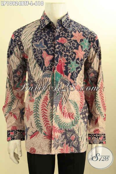 Baju Batik Hem Solo Lengan Panjang Full Furing, Produk Pakaian Batik Jawa Tengah Halus Motif Elegan Tulis Asli, Bikin Penampilan Makin Sempurna