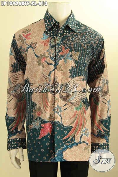 Kemeja Batik Solo Lengan Panjang Full Furing Motif Mewah, Hem Batik Mahal Khas Pejabat Proses Tulis Asli, Cocok Untuk Acara Resmi