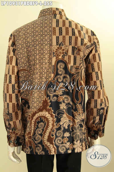 Baju Batik Solo Elegan Mewah Bahan Kain Dolby, Baju Batik Mewah Lengan Panjang Full Furing Kwalitas Premium Motif Klasik Printing Cabut, Bisa Buat Kondangan Dan Rapat