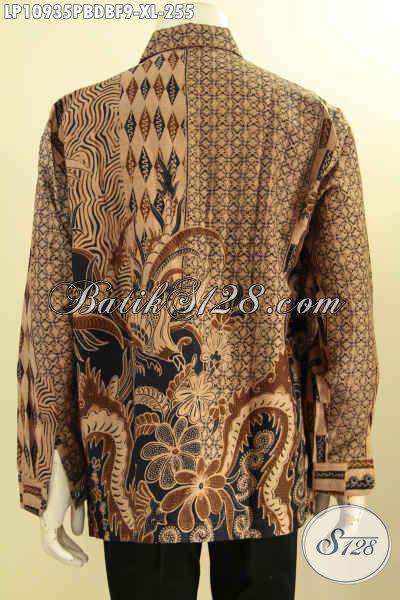 Kemeja Batik Solo Lengan Panjang Full Furing Motif Mewah, Busana Batik Halus Bahan Kain Dolby Desain Istimewa, Bikin Pria Terlihat Gagah Dan Tampan Maksimal