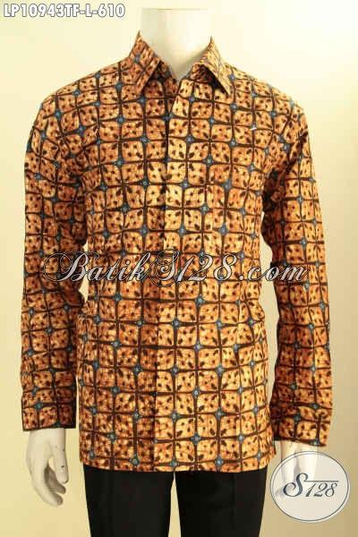 Produk Busana Batik Pria Terkini, Hem Batik Mewah Lengan Panjang Khas Jawa Tengah Daleman Full Furing, Busana Batik Solo Istimewa Untuk Penampilan Lebih Gagah Dan Berwibawa