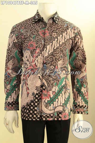 Baju Kemeja Batik Istimewa Dalaman Full Furing, Kemeja Batik Solo Elegan Motif Klasik Proses Kombinasi Tulis, Bikin Penampilan Gagah Dan Berkelas