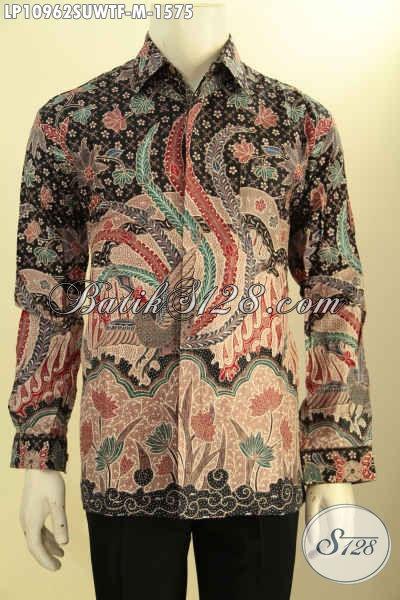 Baju Kemeja Batik Solo Terbaik Untuk Para Eksekutif, Busana Batik Sutra Lengan Panjang Elegan Full Furing Motif Tulis Asli, Penampilan Terlihat Sempurna