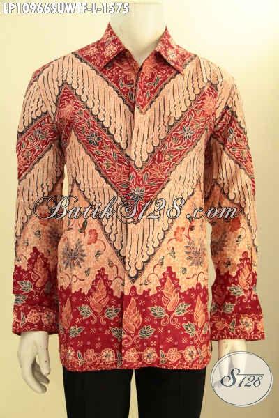 Busana Batik Solo Lengan Panjang Sutra, Pakaian Batik Elegan Mewah Full Furing Seragam Kerja Para Pejabat Dan Eksekutif, Cocok Untuk Rapat Dan Acara Resmi Lainnya