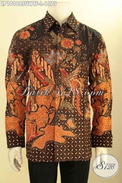 Kemeja Batik Solo Istimewa Untuk Acara Formal Dan Rapat, Busana Batik Sutra Mewah Lengan Panjang Full Furing Motif Klasik Tulis Asli, Bisa Juga Buat Kondangan