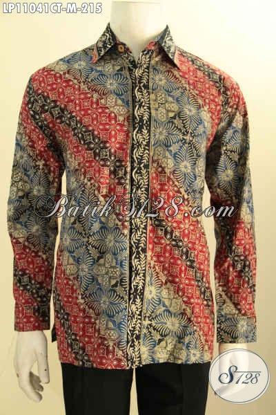 Busana Batik Elegan Lengan Panjang Cocok Buat Kerja Dan Kondangan, Pakaian Batik Solo Terbaru Khas Jawa Tengah Motif Klasik Proses Cap Tulis Hanya 200 Ribuan Saja