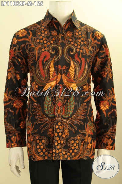 Baju Kemeja Batik Lenagn Panjang Bagus Harga Murmer, Busana Batik Elegan Motif Klasik Proses Printing Hanya 100 Ribuan, Pas Buat Ngantor