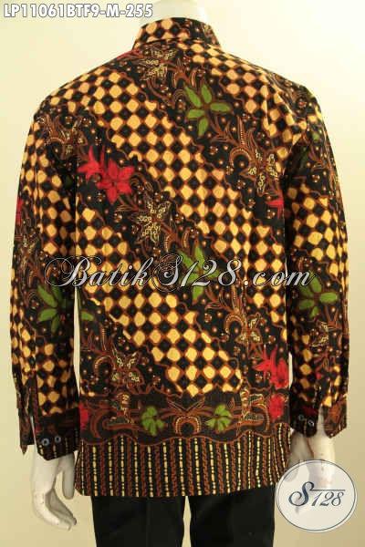 Hem Batik Lengan Panjang Kombinasi Tulis Full Furing, Busana Batik Berkelas Premium Untuk Pria Tampil Gagah Dan Percaya Diri