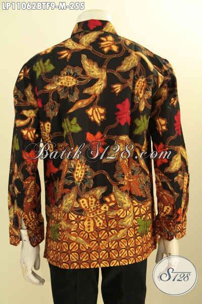 Batik Hem Lengan Panjang Istimewa Untuk Kerja Dan Acara Resmi, Produk Pakaian Batik ELegan Motif Mewah Proses Kombinasi Tulis Daleman Full Furing Hanya 255K