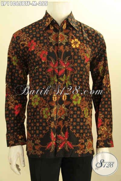 Batik Hem Mewah Harga Terjangkau, Kemeja Batik Solo Lengan Panjang Full Furing Motif Mewah Kombinasi Tulis, Bikin Penampilan Gagah Menawan