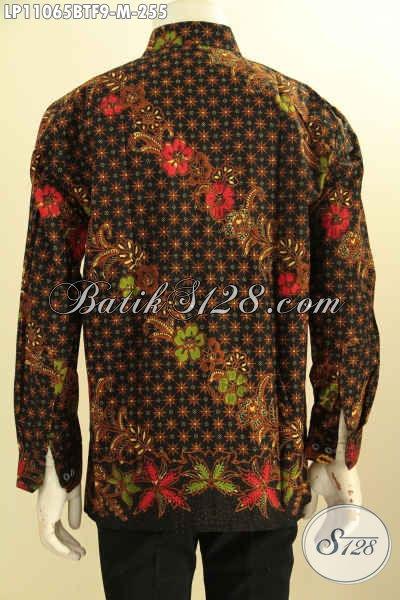 Pusat Baju Batik Solo Online, Sedia Kemeja Lengan Panjang Mewah Full Furing Harga Terjangkau, Bahan Adem Proses Kombinasi Tulis, Cocok Untuk Acara Resmi [LP11065BTF-M]