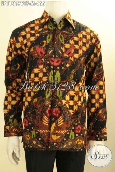 Jual Kemeja Batik ELegan Mewah Harga Murah, Produk Pakaian Batik Pria Muda Lengan Panjang Full Furing Untuk Kerja Dan Acara Resmi Tampil Gagah Berwibawa