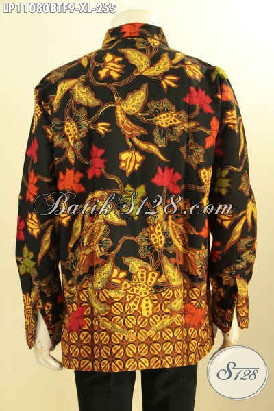 Baju Batik Bagus Nan Berkelas Motif Paling Baru, Model Kemeja Batik Pria Lengan Panjang Pakai Furing Proses Kombinasi Tulis, Bisa Untuk Kondangan Dan Rapat
