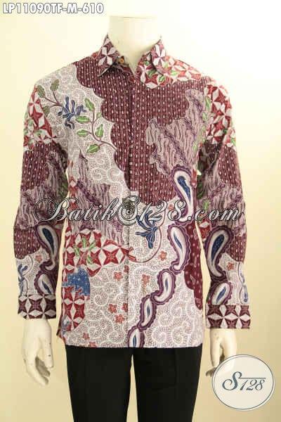 Batik Kemeja Solo Nan Istimewa, Busana Batik Full Furing Lengan Panjang Motif Bagus Bahan Adem Tulis Asli Hanya 600 Ribuan