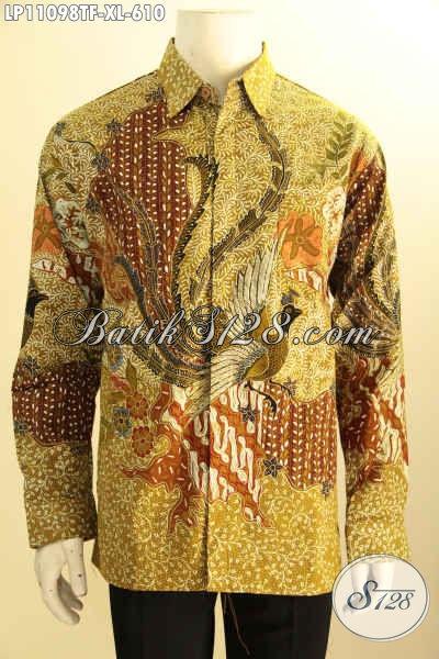 Kemeja Batik Solo Mewah Lengan Panjang Full Furing, Pakaian Batik Solo Berkelas Motif ELegan Dengan Sentuhan Klasik Proses Tulis Asli, Cocok Untuk Acara Resmi