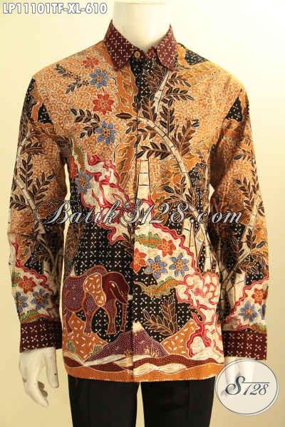 Batik Kemeja Solo Lengan Panjang Full Furing, Pakaian Batik Mewah Motif Bagus Tulis Asli Bahan Adem, Elegan Untuk Kondangan Dan Berkelas Untuk Acara Resmi