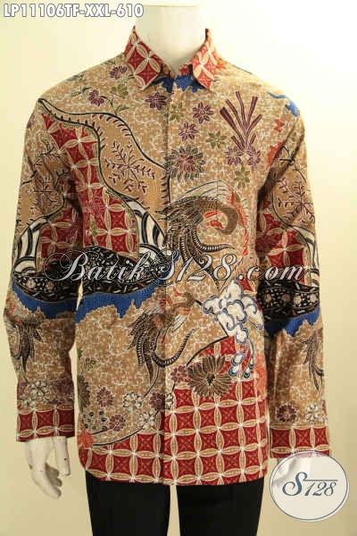 Batik Kemeja Solo Mewah Halus Lengan Panjang Full Furing, Pakaian Batik Mewah Jumbo Motif Klasik Tulis Asli, Kesukaan Pejabat Dan Eksekutif