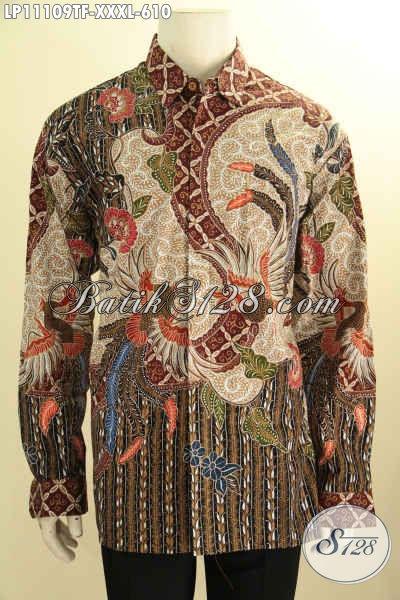 Kemeja Batik Mewah Mahal Lengan Panjang Full Furing, Produk Busana Batik Solo Istimewa Bahan Adem Motif Klasik Tulis Asli, Penampilan Terlihat Mewah Dan Berkelas Hanya 600 Ribuan