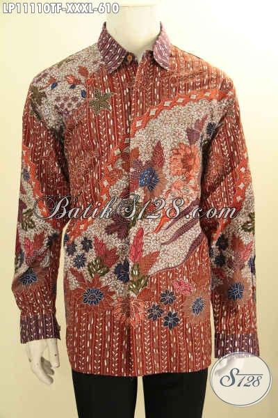 Jual Kemeja Batik Mewah Jawa Tengah, Busana Batik Solo Premium Full Furing Lengan Panjang Motif Mewah Proses Tulis, Cocok Buat Rapat Kondangan Dan Ngantor