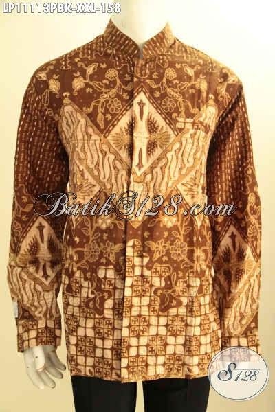 Koleksi Terbaru Kemeja Batik Koko Kerah Shanghai Lengan