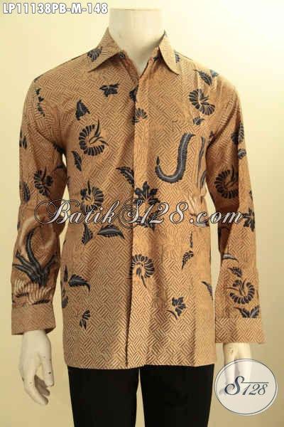 Baju Kemeja Batik Size M Lengan Panjang Bahan Adem Motif Bagus Desain Berkelas, Hem Batik Seragam Kerja Untuk Pria Karir Tampil Tampan Menawan