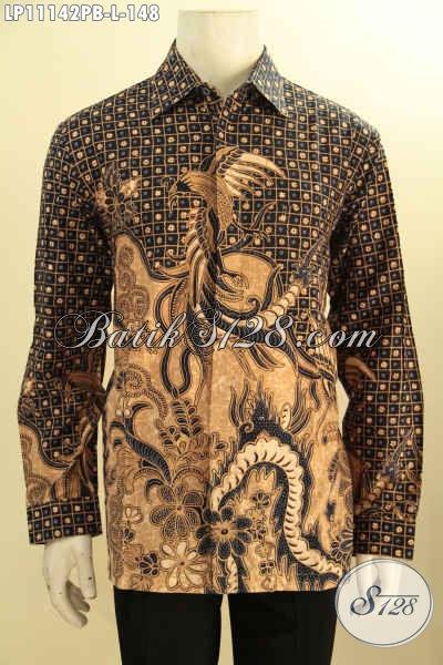 Batik Hem Lengan Panjang Berkelas Hadir Dengan Motif Elegan Klasik Proses Printing Cabut, Busana Batik Solo Nan Istimewa Bahan Adem Yang Menunjang Penampilan Lebih Gagah Berwibawa