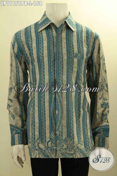 Kemeja Batik Elegan Untuk Tampil Menawan, Pakaian Batik Solo Halus Motif Wayang Proses Printing Cabut Bahan Adem, Pas Untuk Kondangan Dan Seragam Kantor