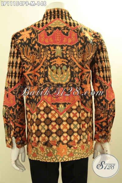 Kemeja Batik Printing Buatan Solo Asli, Hem Batik Halus Elegan Dan Mewah Harga Terjangkau, Menunjang Penampilan Tampan Dan Berwibawa, Pas Untuk Kerja Dan Acara Formal
