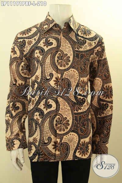 Batik Hem Solo Elegan Motif Klasik Full Furing, Kemeja Batik Lengan Panjang Mewah Berkelas Untuk Acara Formal Harga 200 Ribuan Saja