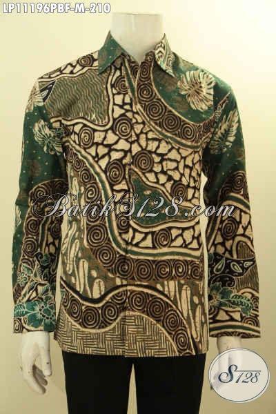 Baju Kemeja Lengan Panjang Mewah Full Furing Hanya 200 Ribuan, Bahan Adem Motif Klasik Printing Cabut, Pas Buat Rapat