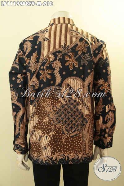 Batik Hem Pria Muda Elegan Dan Mewah, Produk Baju Batik Solo Full Furing Nan Istimewa Bahan Adem Kwalitas Premium Motif Klasik Printing Cabut, Pas Banget Untuk Acara Resmi