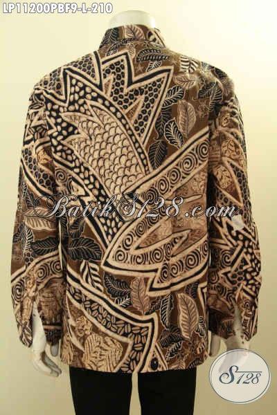 Model Baju Batik Solo Lengan Panjang Full Furing, Busana Batik Pria Masa Kini Karir Aktif Kwalitas Premium, Cocok Untuk Kerja Dan Rapat Hanya 210 Ribu Saja
