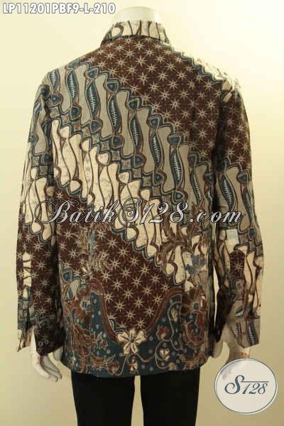 Hem Batik Kondangan, Baju Batik Rapat, Model Lengan Panjang Full Furing Motif Klasik Bahan Halus Nyaman Di Pakai Harga Terjangkau