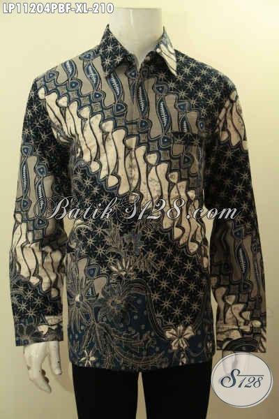 Batik Kemeja Size XL Lengan Panjang Full Furing, Pakaian Batik Motif Klasik Nan ELegan Kwalitas Mewah, Bikin Penampilan Lebih Berkelas