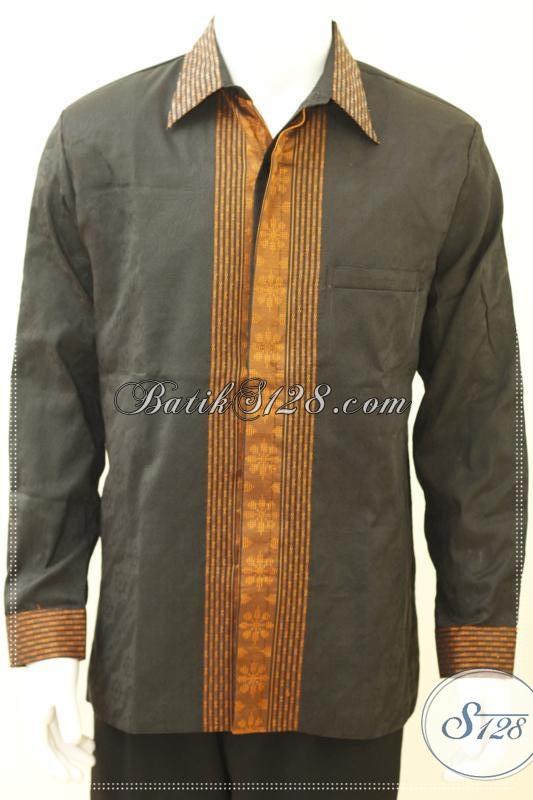 Baju Tenun Pria Terbaru Warna Hitam Keren Elegan Dan