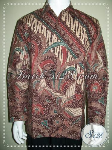 Batik Sutra Modern Kemeja Batik Tulis Sutera Lengan Panjang Untuk