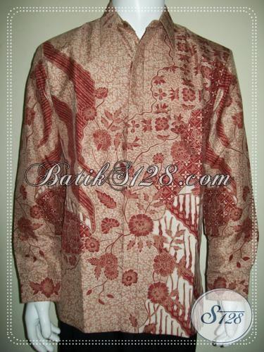 Hem Batik Sutra Modern Mewah, Untuk Pria Berkelas, High Class Batik Sutra [LP1243SUWF-L]