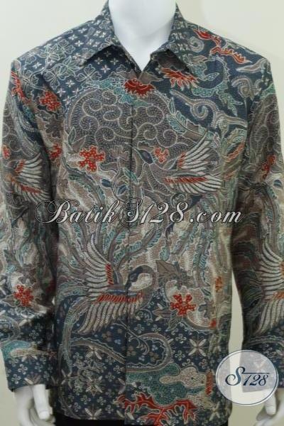 Baju Batik Sutra Online Untuk Laki-Laki Sudah Siap Ready Made Pakai Lengan Panjang Size XL [LP1436SUMF-XL]