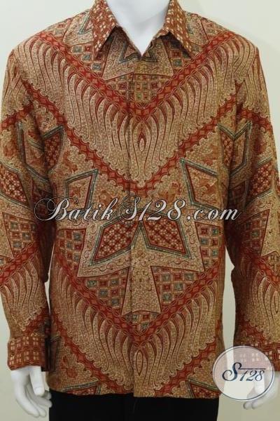 Baju Kemeja Sutra Batik Modern, Batik Tulis Sutera Lengan Panjang, Untuk Pejabat Dan Tokoh Masyarakat
