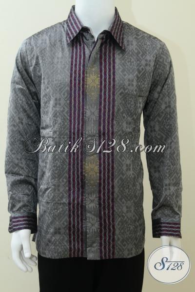 Pakaian Tenun Pria Lengan Panjang Untuk Kondangan, Meeting Dan Acara Resmi Lainnya [LP1676NF-XL]