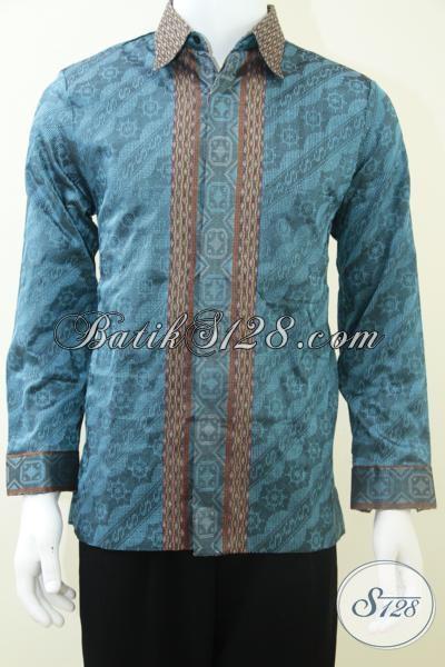 Baju Tenun Pria Modern, Lambang Pria Sukses Dan Berkelas [LP1811NF-M]