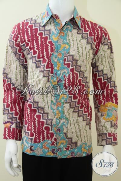 Kemeja Batik Pria Warna Cerah Motif Parang, Batik Tulis Pejabat Dan Pengusaha Sukses [LP1834TP-M]