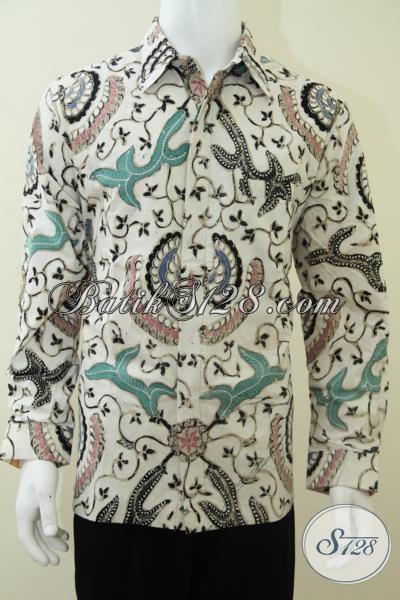 Baju Batik Tulis Solo Warna Putih Motif Klasik Babon