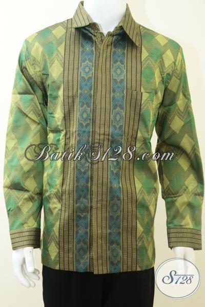 Pusat Penjualan Busana Tenun Troso Online, Baju Tenun Lengan Panjang Buatan Jepara Asli, Cocok Untuk Acara Resmi Rapat Maupun Kondangan, Size L